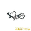 imagem do produto  Adesivo Cromado em Auto Relevo I Love My Dog - Cromarca