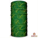 imagem do produto  Bandana Tubular Multiuso Respirável com proteção Solar Carta Topográfica Verde e Amarelo - Mundo Terra