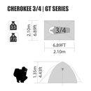 imagem do produto  Barraca de Camping Cherokee GT 5/6 pessoas - NTK Nautika