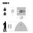 imagem do produto  Barraca de Camping Dome 8 pessoas - NTK Nautika