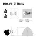 imagem do produto  Barraca de Camping Indy GT 3/4 pessoas - NTK Nautika