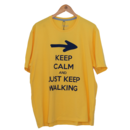 imagem do produto  Camiseta Estampa Keep Calm and Just Keep Walking Masculina Gola C Manga Curta MT - Mundo Terra