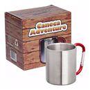 imagem do produto  Caneca Adventure Inox com Alça de Mosquetão de Alumínio - Guepardo