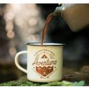 imagem do produto  Caneca Esmaltada para Café Eu Sou Aquilo que me Inspira Creme - Guepardo