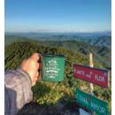 imagem do produto  Caneca Esmaltada para Café Minha Terapia Sempre foi Acampar Verde - Guepardo