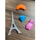 imagem do produto  Cartela com 4 Imãs Bonjour coleção viagem Paris França - Uatt?