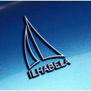 imagem do produto  Cromo Adesivo Auto Colante Logo Ilhabela Capital da Vela - Mundo Terra