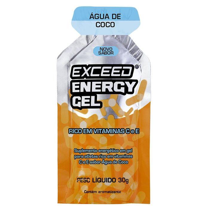 imagem do produto Exceed Energy Gel Sabor Água de Coco Sachê Unitário 30 gramas - Exceed
