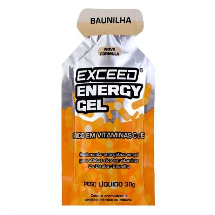 imagem do produto Exceed Energy Gel Sabor Baunilha Sachê Unitário 30 gramas - Exceed