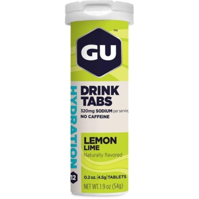 imagem do produto GU Hydration Drink Tabs Limão em Tubo com 12 pastilhas - Gu Energy
