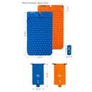 imagem do produto  Isolante Térmico Colchonete Inflável Sleeping Pad FC-13 Couple Casal com Travesseiro - Naturehike