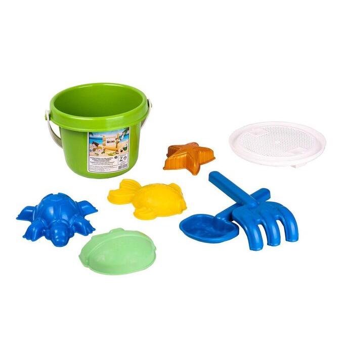 imagem do produto Kit de praia com 8 Peças e Balde para brincar na areia  - Bel