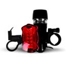 imagem do produto  Kit Farol Dianteiro e Lanterna Traseira para Bike com 5 LEDs  - Acte Sports