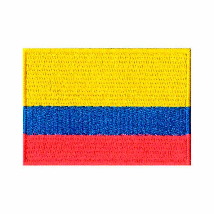imagem do produto Patch Bordado Bandeira da Colômbia Grande 5,4 cm x 8,2 cm - Talysmã Bordados