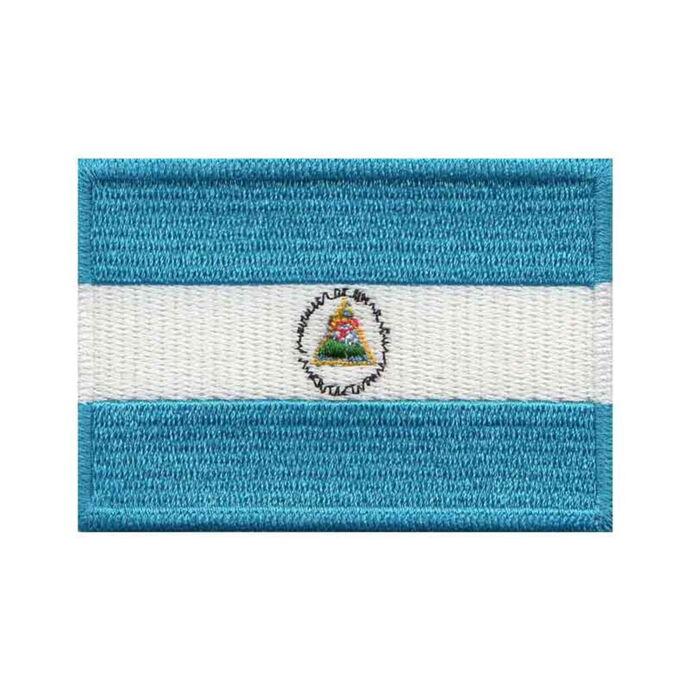 imagem do produto Patch Bordado Bandeira da Nicarágua Grande 5cm x 8cm - Talysmã Bordados