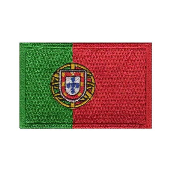 imagem do produto Patch Bordado Bandeira de Portugal Grande 5 cm x 8 cm - Talysmã Bordados