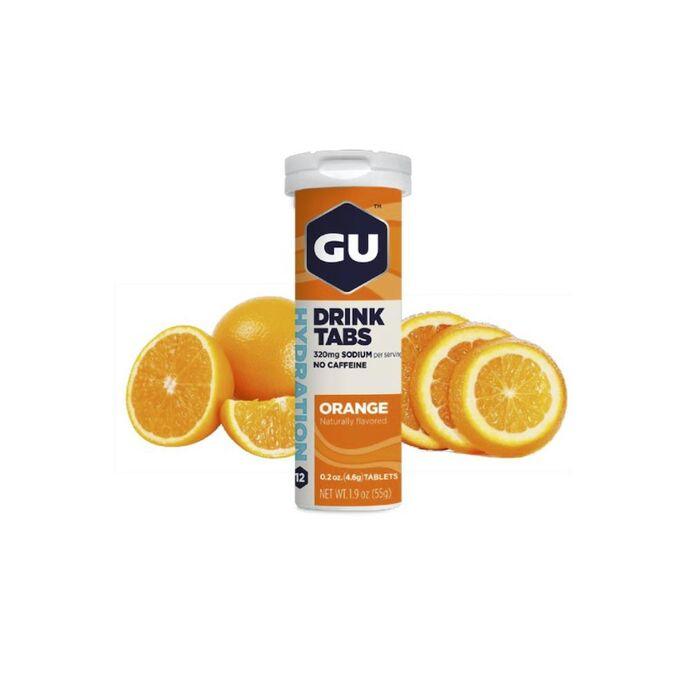 imagem do produto Gu Hydration Drink Tabs  Sabor Laranja Orange em Tudo com 12 pastilhas - Gu Energy