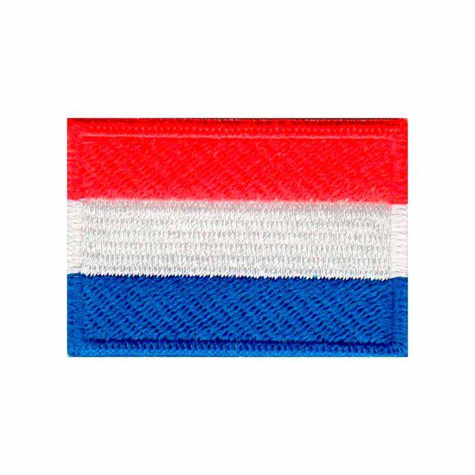 imagem do produto Patch Bordado Bandeira da Holanda Pequena 3,5 cm x 5 cm - Talysmã Bordados