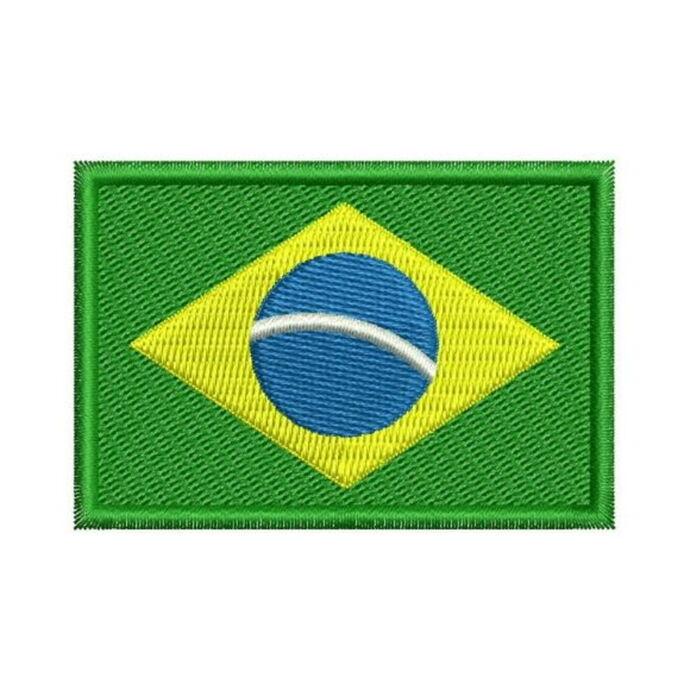 imagem do produto Patch Bordado Bandeira do Brasil Pequena 1,5 cm x 2,5 cm - Talysmã Bordados